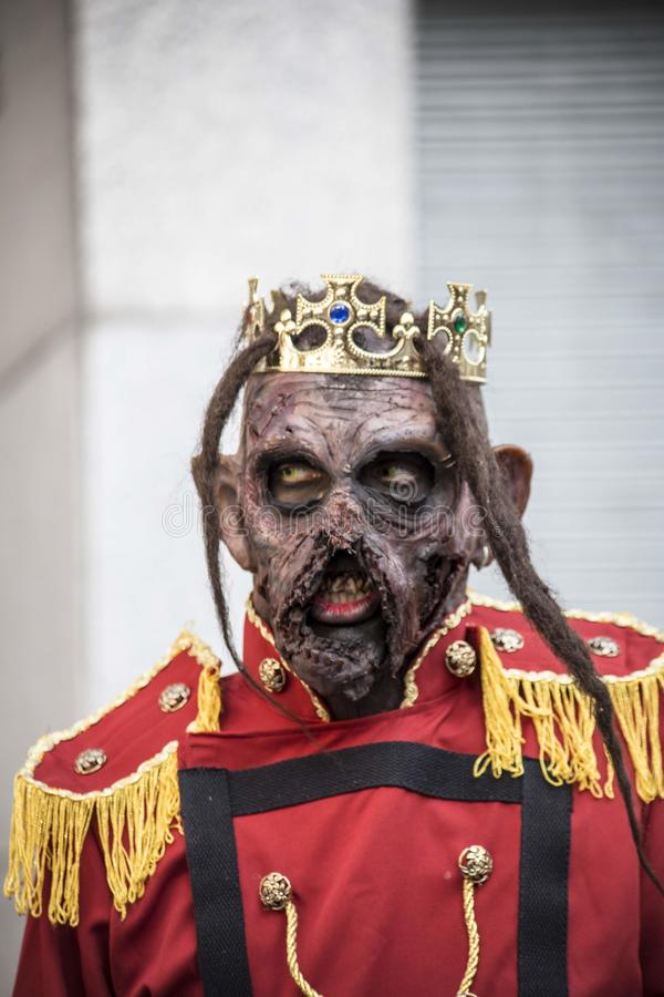 Zombie butler royalty free stock image