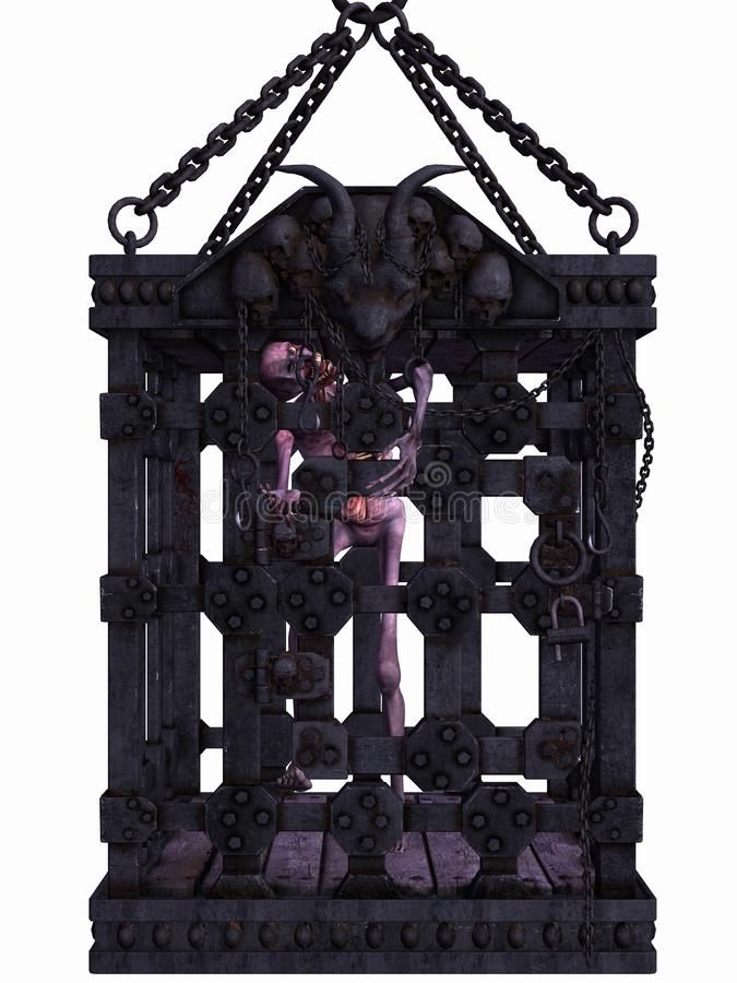 Download Zombie In A Cage - Halloween Figure Stock Illustration - Illustration: 15887904