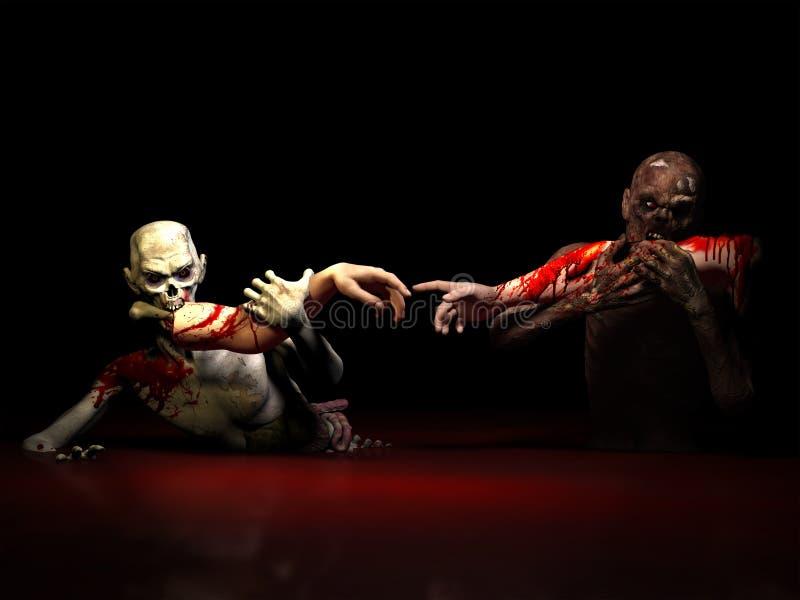 Zombie che mangiano creazione immagine stock