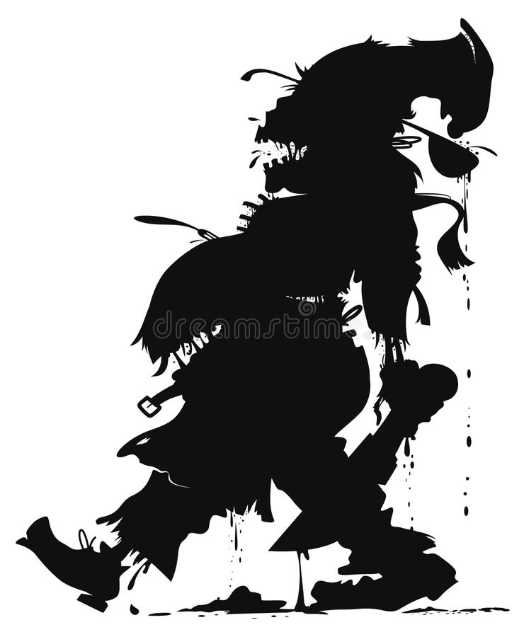Free Zombie Chef Silhouette Stock Images - 78236544