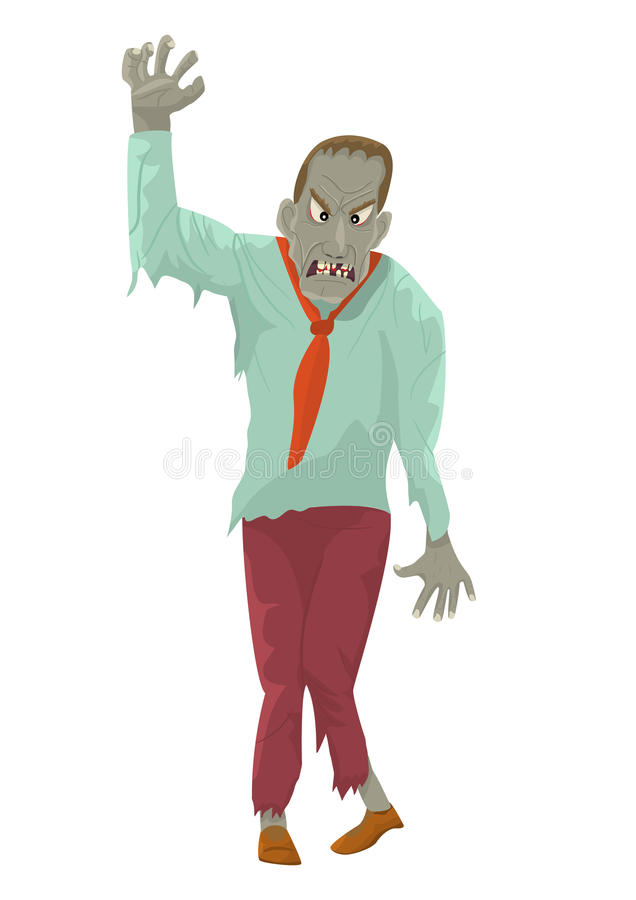 Zombie con la mano outstretched illustrazione di stock
