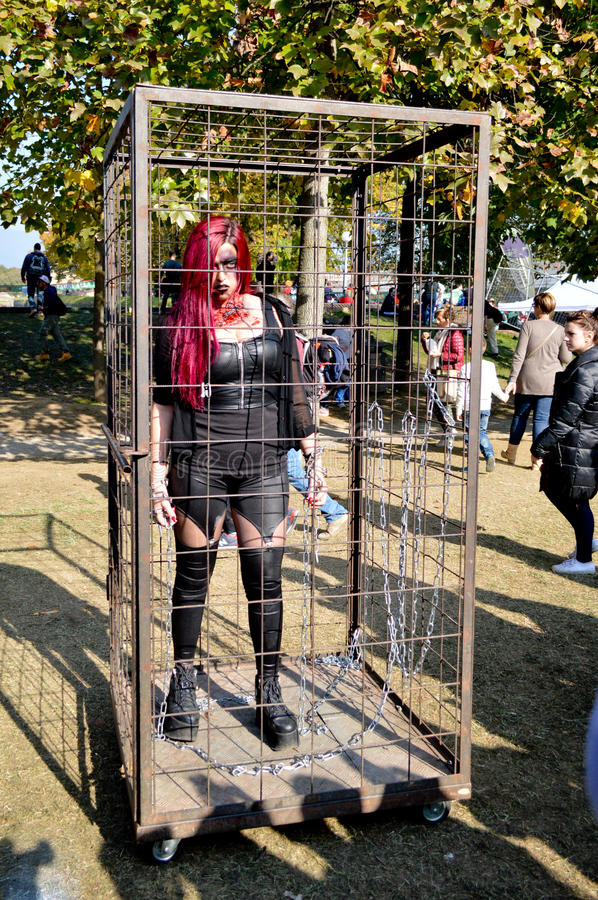 Zombie cosplayer at Lucca Comics and Games 2014 royalty free stock images