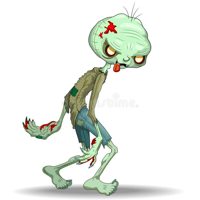 Download Zombie Creepy Monster Cartoon Stock Vector - Illustration: 78158586