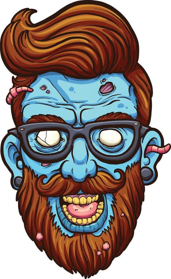 Zombie dei pantaloni a vita bassa illustrazione di stock