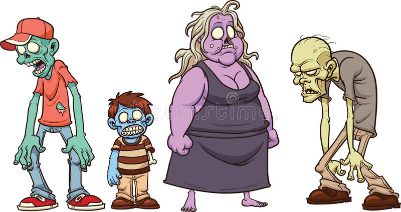Zombie del fumetto illustrazione di stock