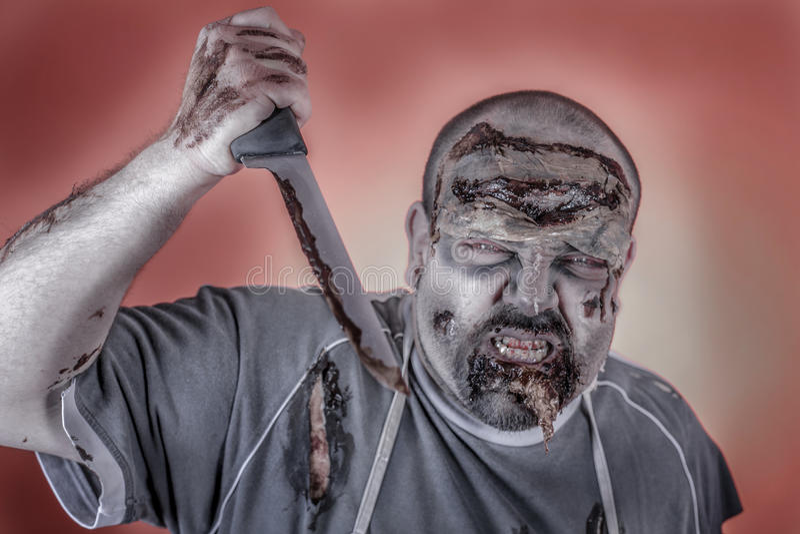 Zombie del macellaio fotografie stock libere da diritti
