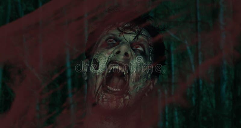 Zombie di grido fotografie stock