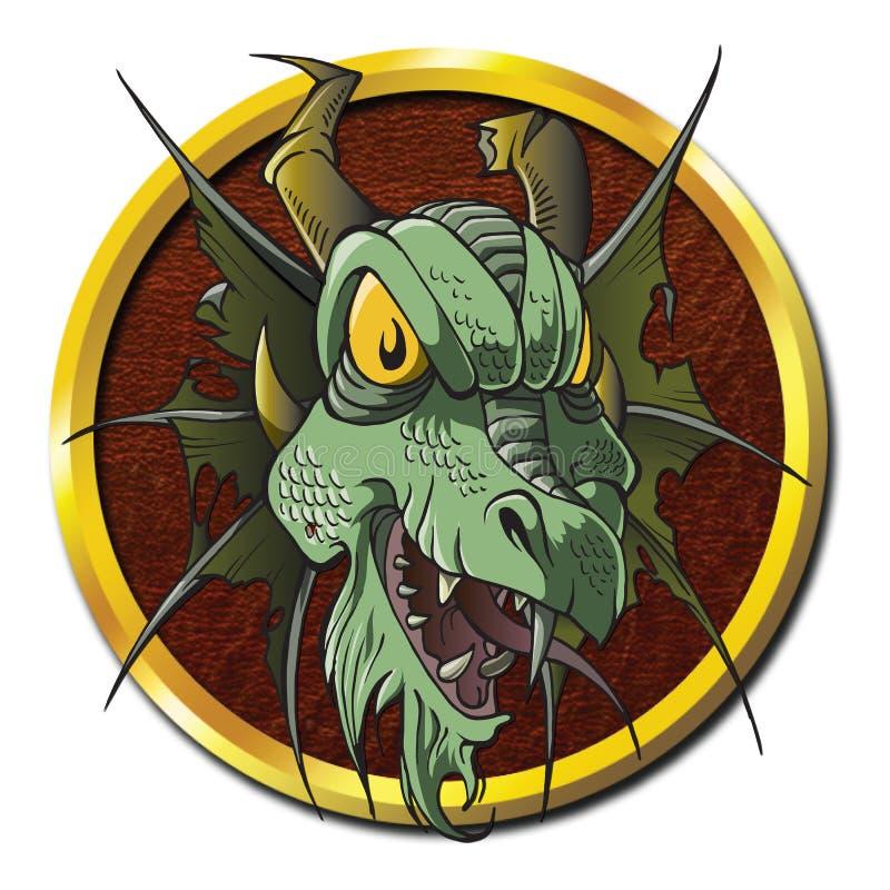 Zombie-Dragon Creature-Leiche vektor abbildung