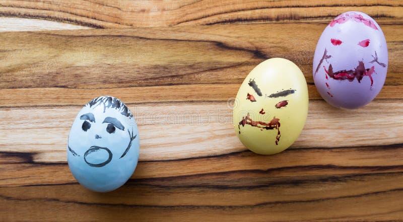 Zombie easter eggs stock photos