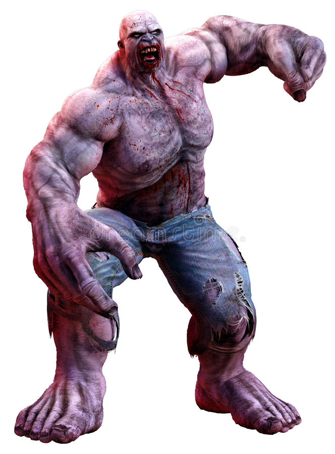 Zombie enorme immagini stock libere da diritti