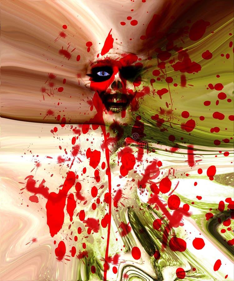 Zombie-Fleisch-Wand stockfotografie