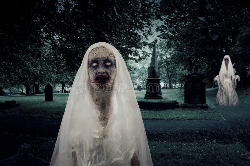 Zombie-Friedhofs-Geister stock abbildung
