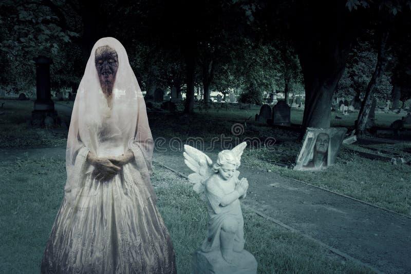 Zombie-Friedhofs-Geister vektor abbildung
