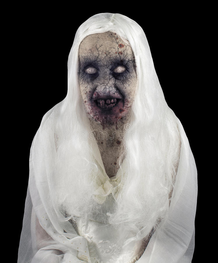 Zombie Ghost Isolated. On Black Background stock photo