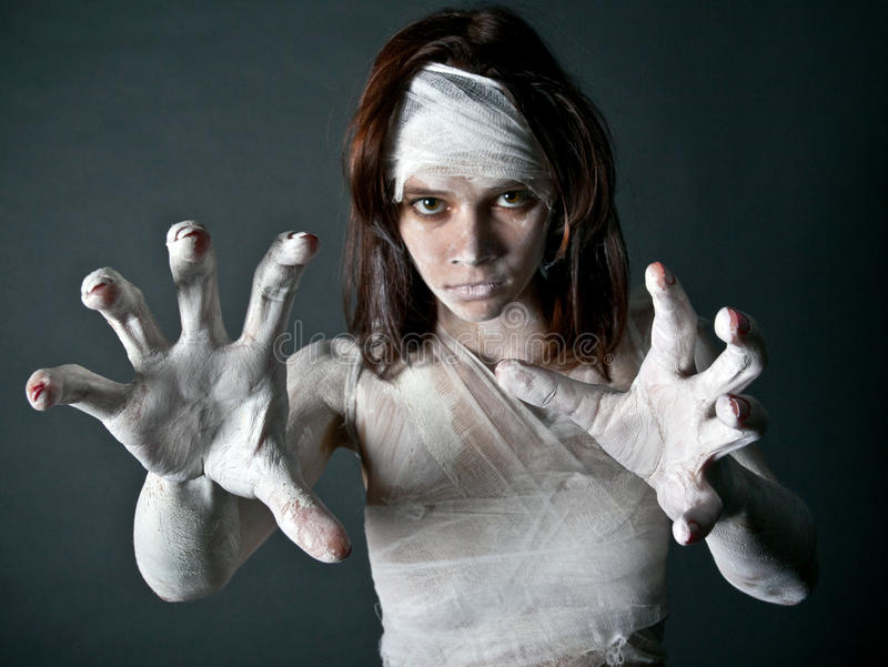 Download Zombie girl stock photo. Image of levis, vietnamese, belly - 12963894