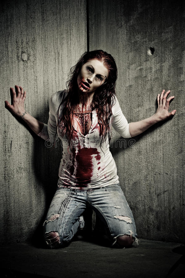 Zombie girl royalty free stock image