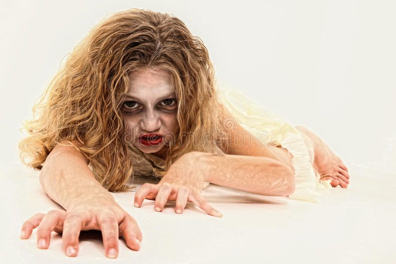 Download Zombie Girl stock image. Image of eyes, stalk, zombie - 16461833