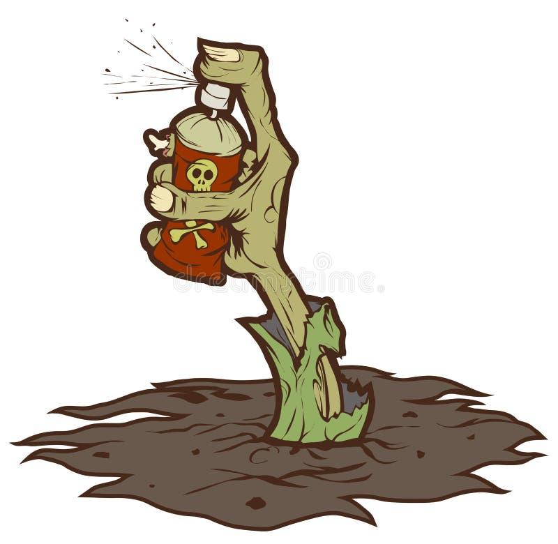 Download Zombie graffiti stock vector. Image of cemetery, aerosol - 26701257