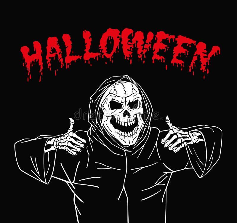 Zombie Halloween felice royalty illustrazione gratis