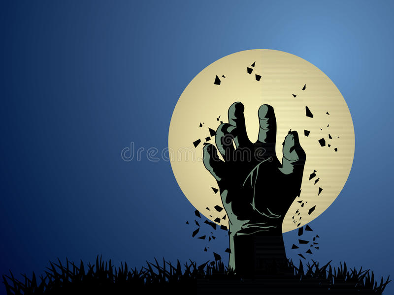 Download Zombie hand stock vector. Image of cranium, objects, autumn - 27150254