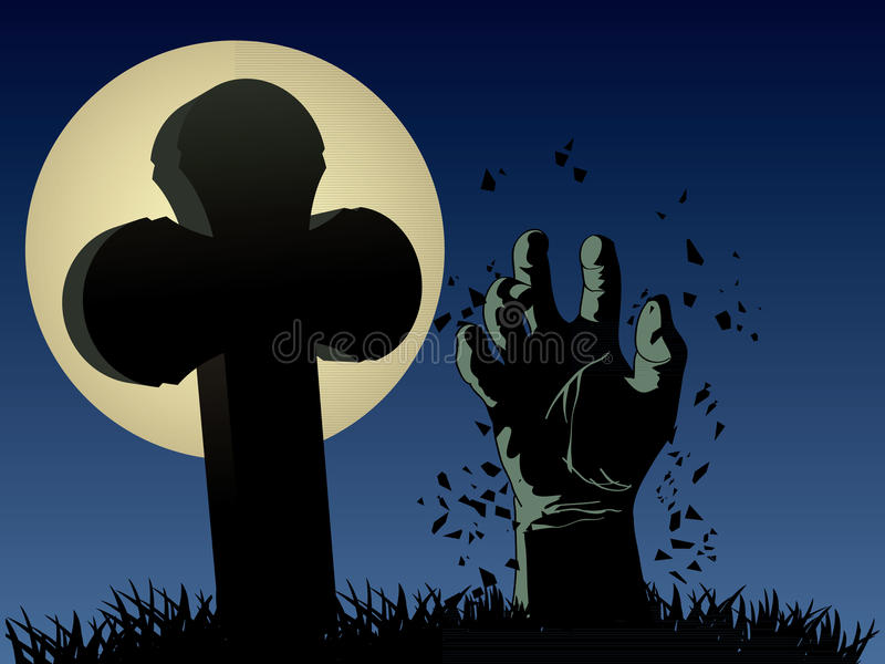 Download Zombie hand stock illustration. Image of objects, critter - 27150255