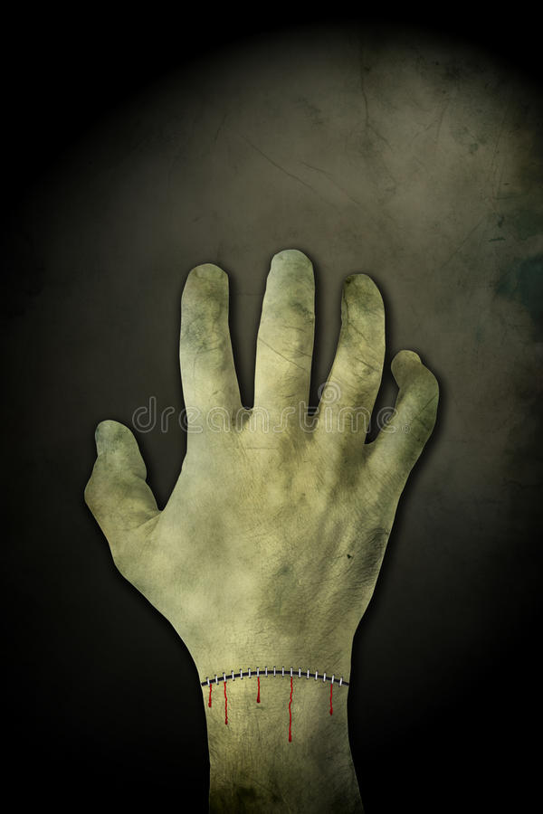 Zombie hand background vector illustration