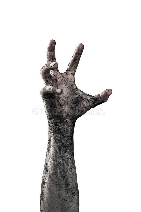 Zombie hand dirty with soil stock photos