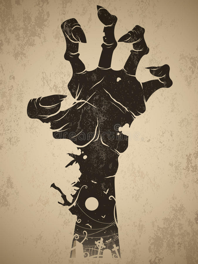 Zombie hand stock illustration