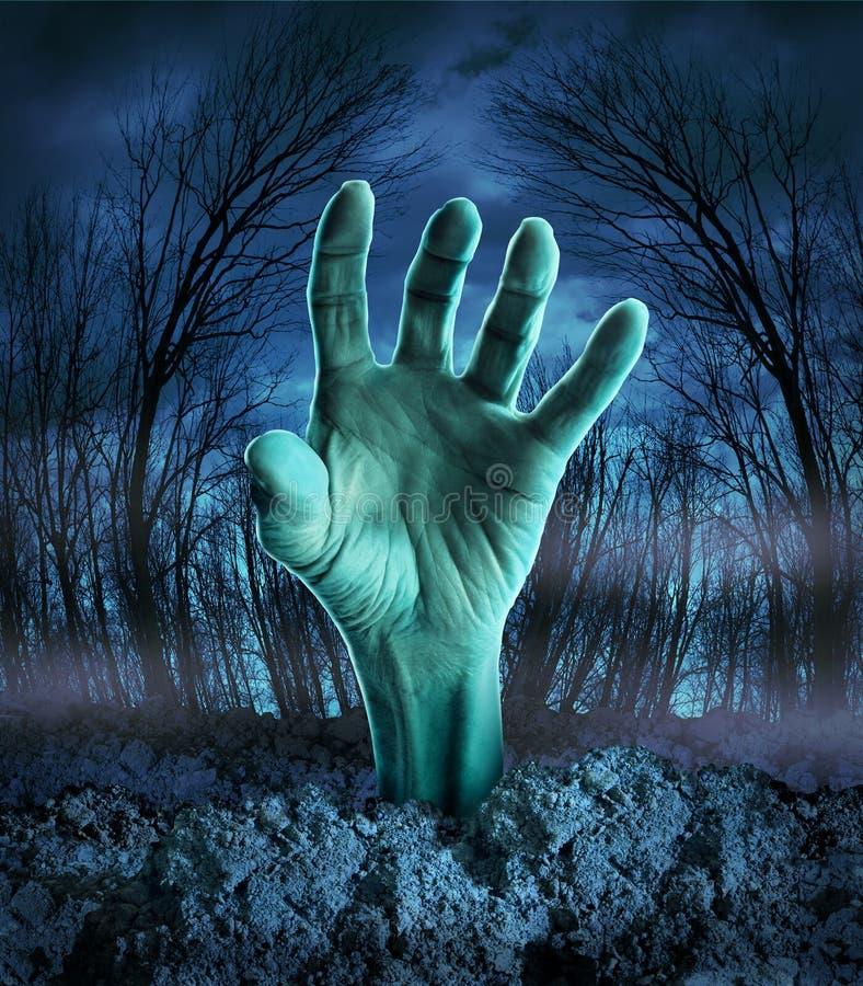 Zombie-Handsteigen lizenzfreie abbildung