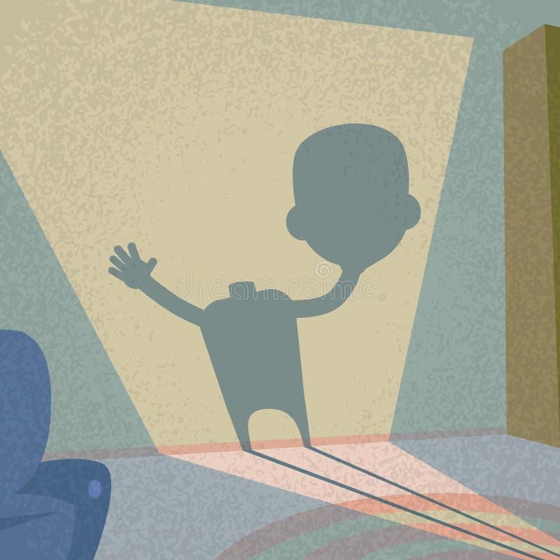 Zombie Headless σκιά χεριών λαβής επικεφαλής διαθέσιμη απεικόνιση αποθεμάτων