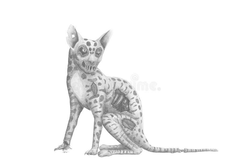 Download Zombie jaguar stock illustration. Image of bone, jaguar - 23782729