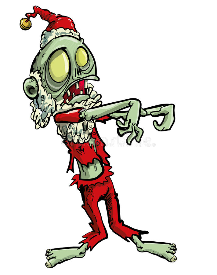 Zombie Jultomte vektor illustrationer