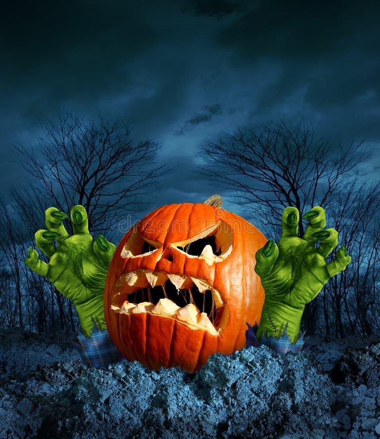Zombie-Kürbis lizenzfreie abbildung