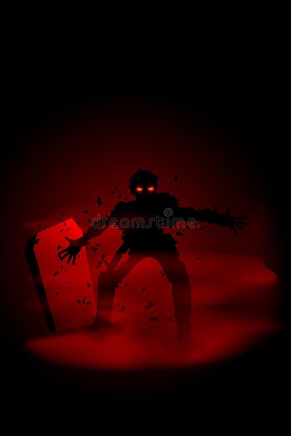 Zombie a night2 illustrazione vettoriale