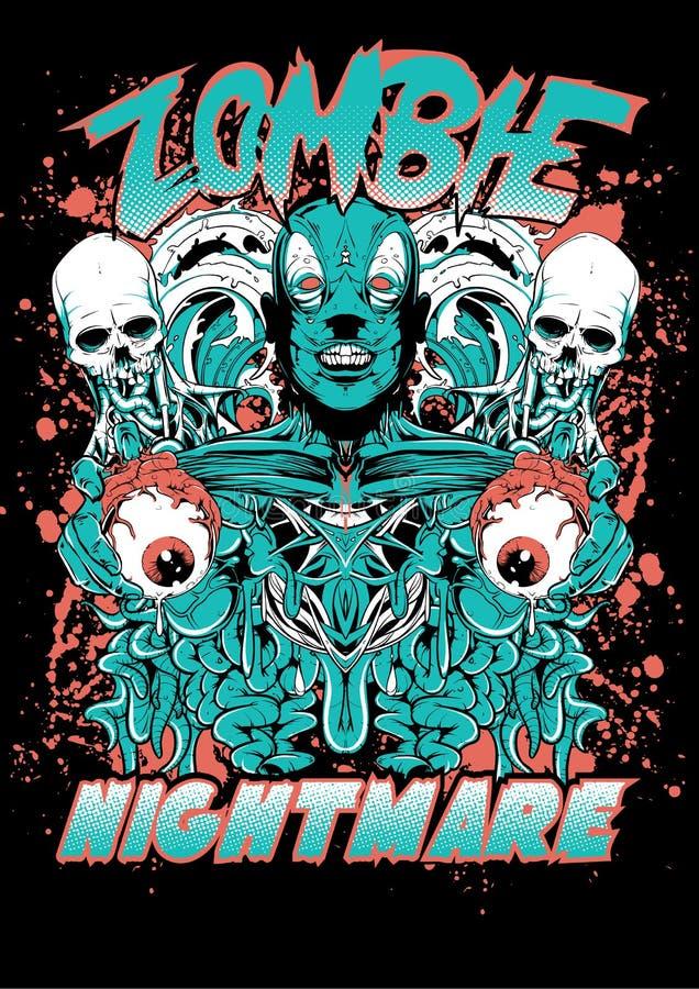 Zombie nightmare royalty free illustration