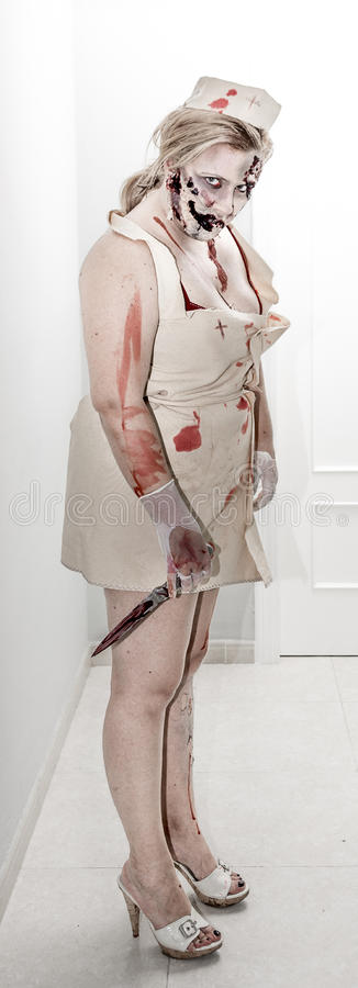 Download Zombie nurse stock image. Image of knife, terror, fright - 27316391