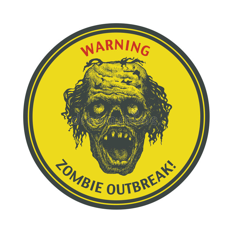 Zombie Outbreak. Hand drawn. Vector Eps8 royalty free illustration