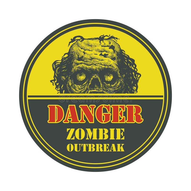 Zombie Outbreak. Hand drawn. Vector Eps8 vector illustration