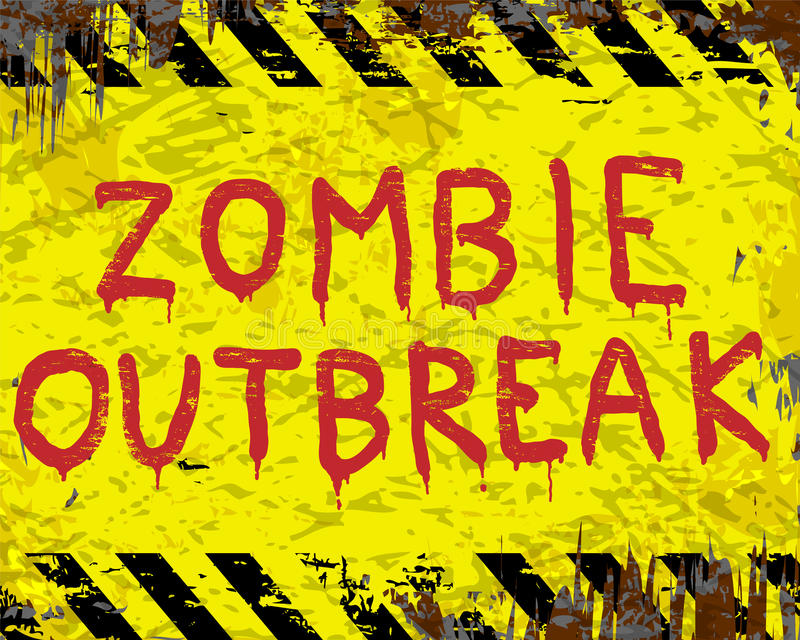 Zombie Outbreak Sign royalty free illustration