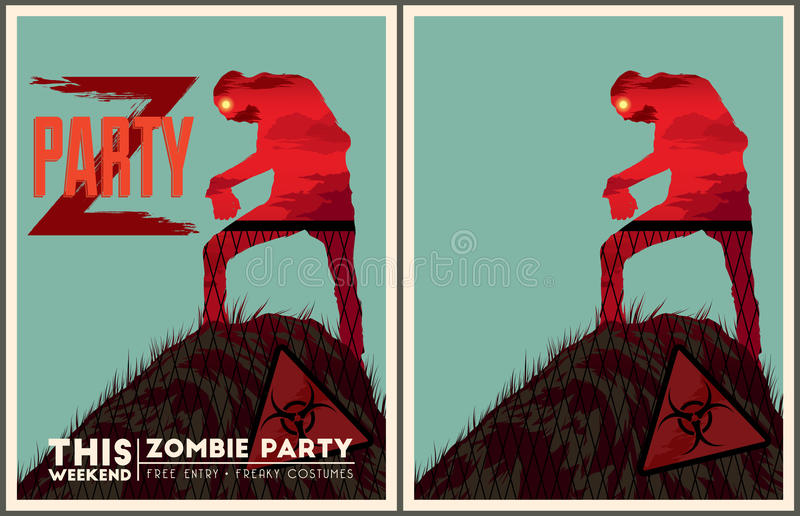 Zombie party poster set stock vector illustration of scary 57544327 download zombie party poster set stock vector illustration of scary 57544327 stopboris Gallery
