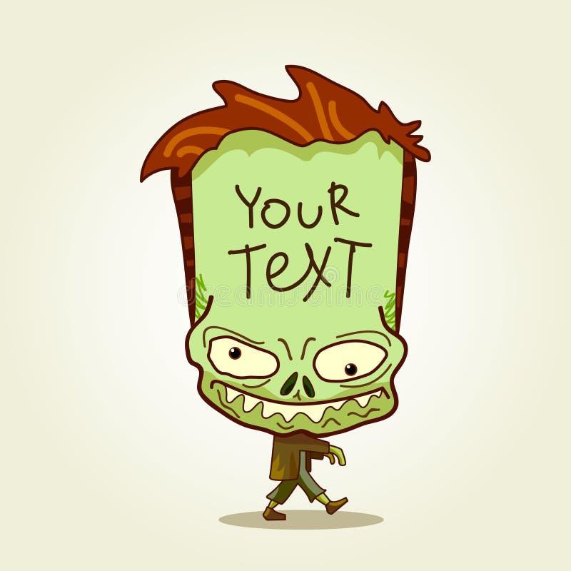 Zombie. Plaats voor tekst. stock illustratie