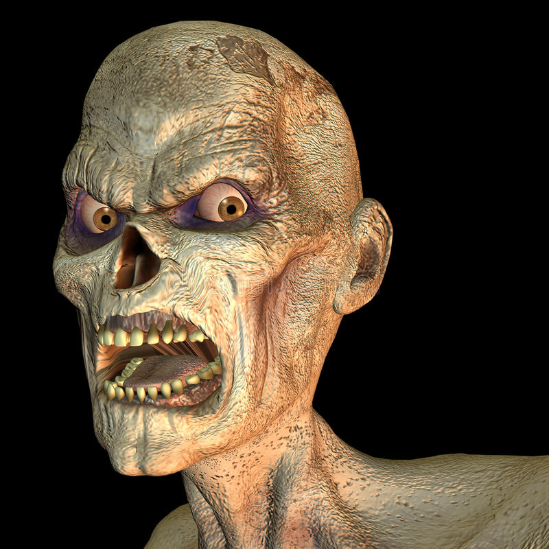 Free Zombie Portrait Royalty Free Stock Image - 15559486