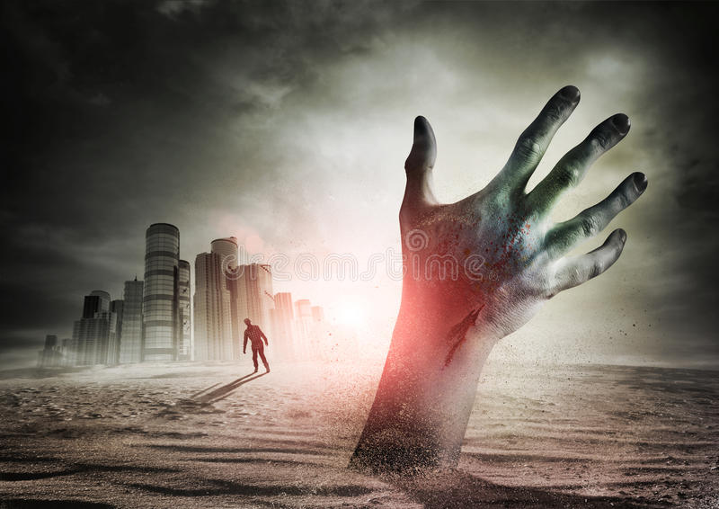 Zombie Rising royalty free stock images