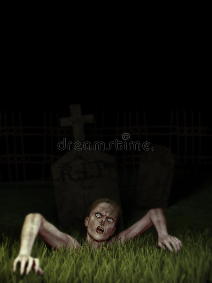 Zombie Rising royalty free stock photos