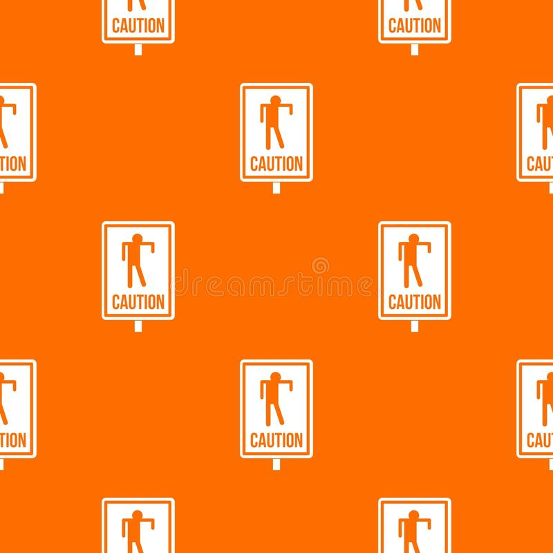 Zombie road sign pattern seamless stock illustration