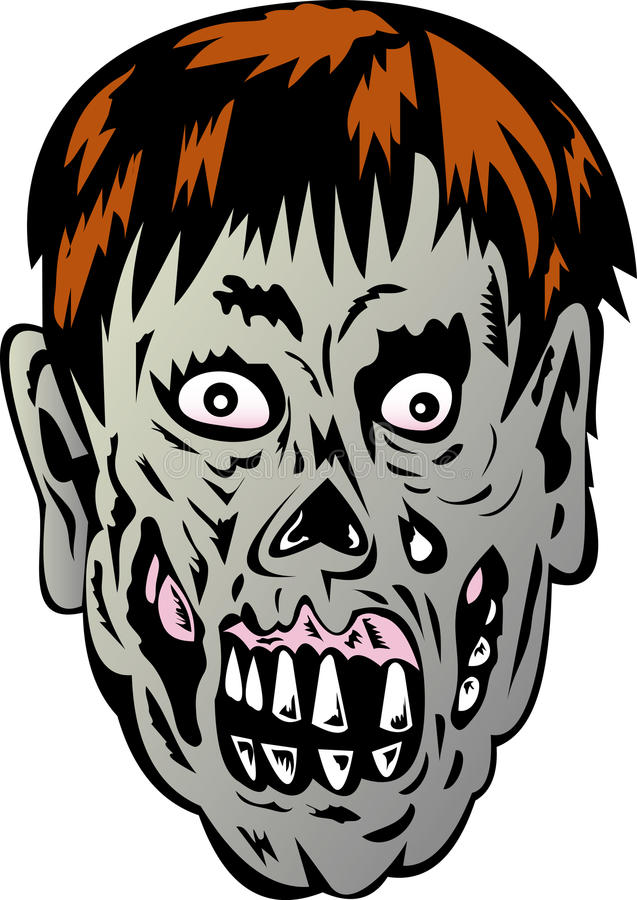 Download Zombie with rotting face stock vector. Illustration of spooky - 11035958