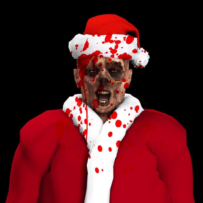 Zombie Santa Royaltyfri Fotografi