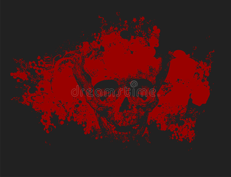 Zombie skull illustration stock photos