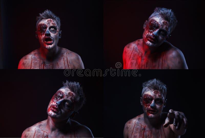Zombie spaventose immagini stock libere da diritti