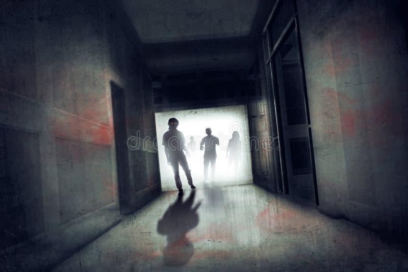 Zombie spaventosi fotografie stock